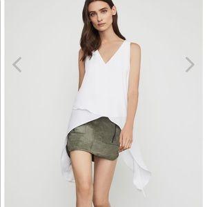BCBGMaxAzria Skirts - BCBGMAXAZRIA Patch Pocket Faux Suede Skirt